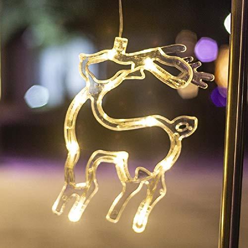 Luces navideñas Decoración Luces colgantes para ventanas Luces de ventosa para ventanas Actividades navideñas Arreglo de fiestas Luces de colores Cadena de luces LED