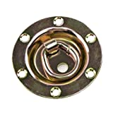 Buyers Products Rotating/Recessed D-Ring 3,500 lb. Capacity Tiedowns Gold 1 Pack