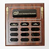 NWA Employee of The Month Perpetual Plaque, Wooden Plaque, Engraving Included