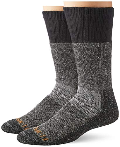 Carhartt Men's XL (US Extremes Cold Weather Boot Socks, BlackHeather, Shoe Size: 11-15