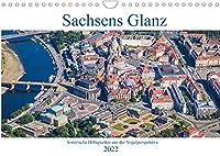 Sachsens Glanz - historische Hoehepunkte aus der Vogelperspektive (Wandkalender 2022 DIN A4 quer): Luftbilder historischer Hoehepunkte in und rund um Dresden (Monatskalender, 14 Seiten )