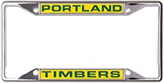 Wincraft Portland Timbers License Plate Frame, Metal with Inlaid Acrylic, 4 Mount Holes