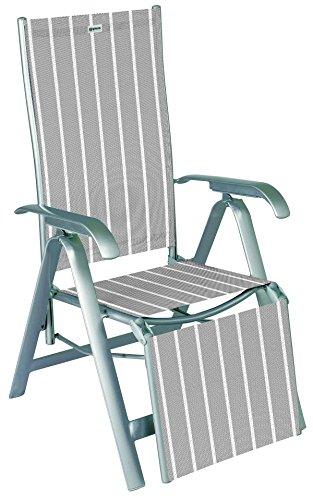acamp Gartenstuhl acatop Relaxsessel Sessel 7-Fach verstellbar Aluminium Acatex Gewebe Platin Denver