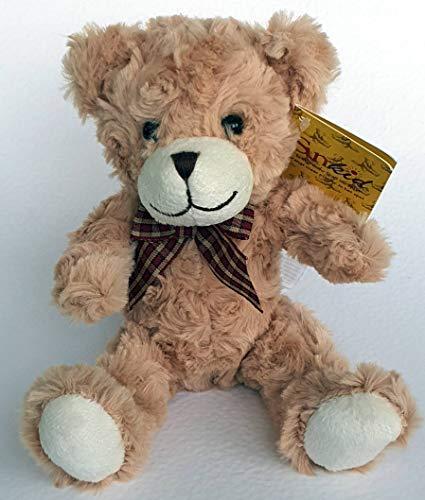 Teddy Bär 15cm sitzend Plüschbär Plüschtier mit Locken