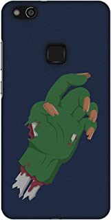 AMZER Slim Fit Handcrafted Halloween Designer Printed Hard Shell Ultra Light Back Case Cover Skin for Huawei P10 Lite - Th...
