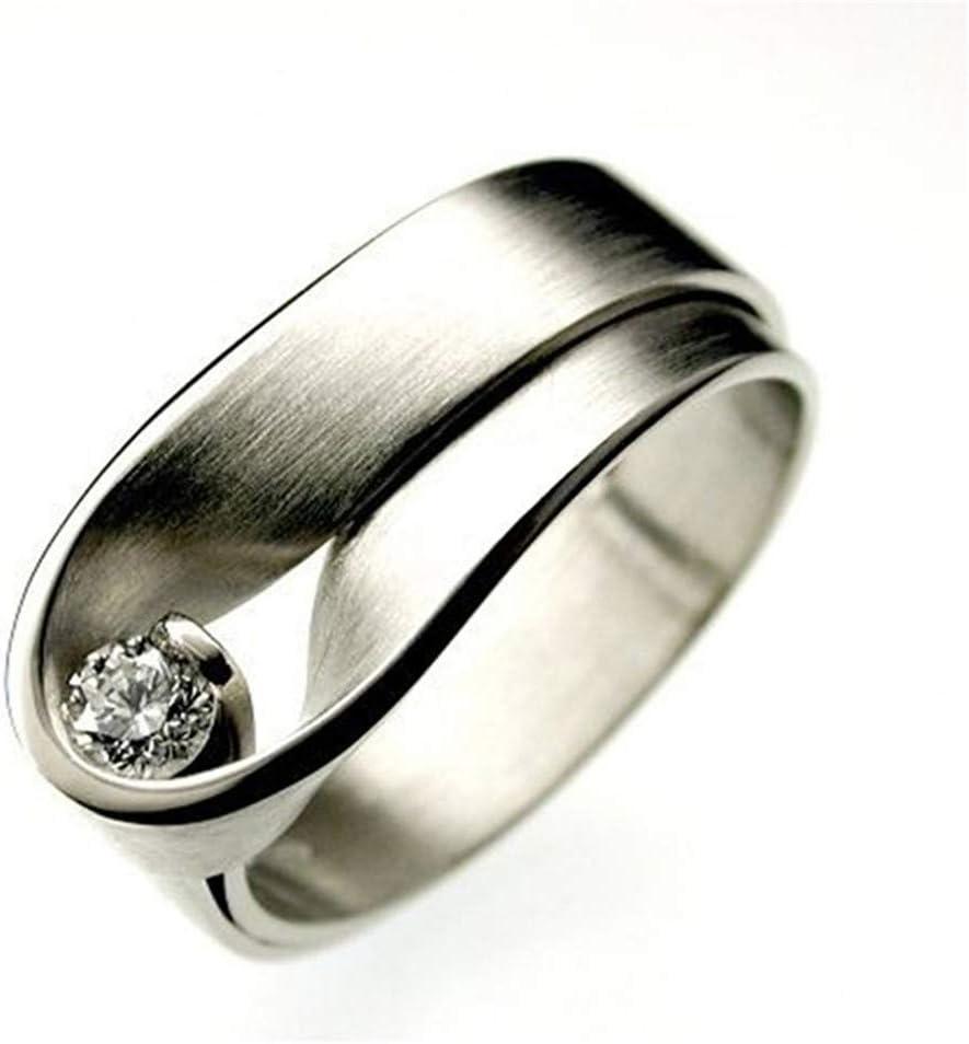 WEILYDF Anniversary Ring Shiny Simple Women Minimalist Wedding Ring Unique Design Women Jewelry Engagement Party Anniversary Ring