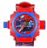 Generic Digital 24 Images Spiderman Projector Watch for Kids, Diwali Gift, Birthday Return