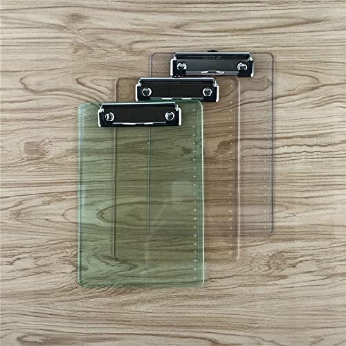 Portapapeles de aluminio A5 plástico escala tablero regla tablero transparente escritorio mesa mesa medición soporte placa clip archivo carpetas cartón