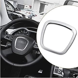 AtFipan Aluminium Alloy Car Steering Wheel Sticker Body Emblem Trim For Audi A3/A4/A5/Q5/Q7