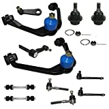 2WD Only Front Suspension Kit Includes Upper Control Arms, Lower Ball Joints, Inner and Outer Tie Rod Ends, Sway Bar End Links, Pitman and Idler Arm w/2.48' Bolt Pattern