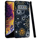 LuGeKe Space Planets Phone Case for Samsung Galaxy S10, Sloar Moon Patterned Case Cover,Soft TPU Cover Flexible Ultra Slim Anti-Stratch Bumper Protective Boys Phonecase(Moon Outer Space)