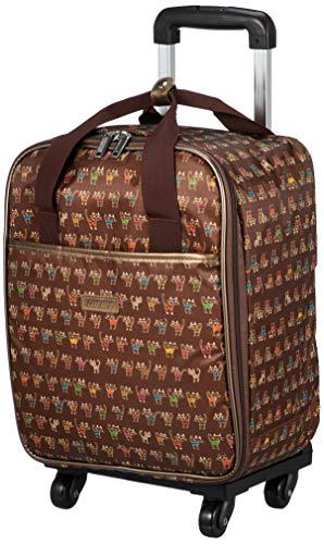 [カンサイビス] ショッピングキャリー ネコ柄キャリー 23L 2カラー 機内持込 機内持ち込み可 保証付 47 cm 1.6kg チョコ