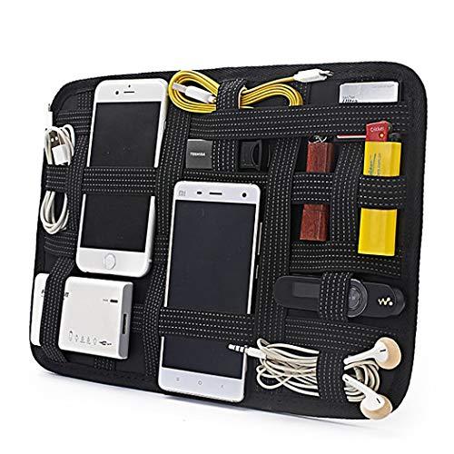 Justdolife elektronische organisator plank elastische reis-gadget tas elektronica organisator