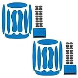 Kit de Espuma para Acolchado de Casco, 2 Juegos de Almohadillas de Espuma para Casco con Almohadillas de Velcro, Accesorios para Cascos de Ciclismo para Bicicleta y Motocicleta (Azul)