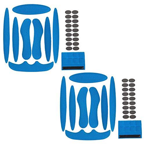 Klettverschlüssen Helm Polster-Schaumstoff-Kit,2 Sätze Helm Bewegung Mit, Schwamm Helmpolster für Fahrrad-Motorrad Fahrradhelm