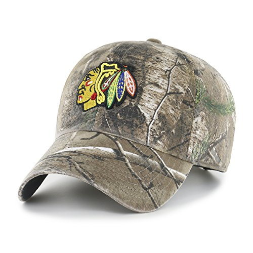 OTS NHL Chicago Blackhawks Men's Challenger Adjustable Hat, Realtree, One Size