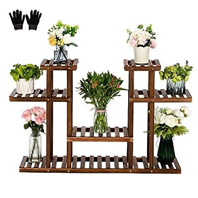 Flower Rack Wood Plant Stand Wood Shelves Bonsa...