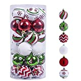 Valery Madelyn 30ct 60mm Classic Collection Splendor Red Green White Shatterproof...