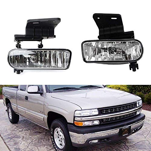 iJDMTOY 89-343-Clear Clear Lens Fog Lights Foglamp Kit with 880 Halogen Bulbs w/Mounting Brackets For…