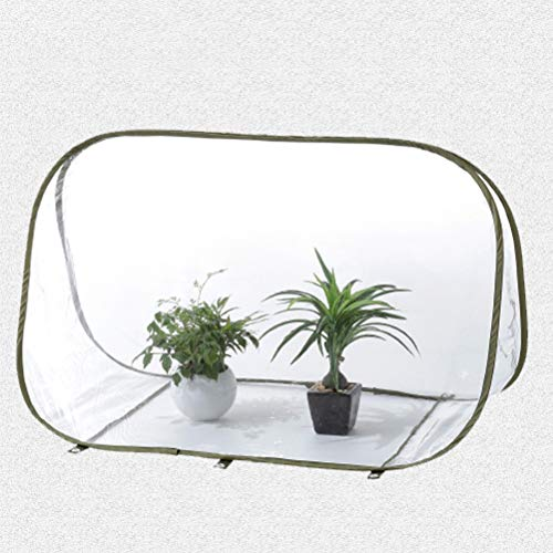 FEIDAjdzf Garden Tools Set,Foldable Mini Greenhouse Insulated Triangle Greenhouse Transparent Flower Shed