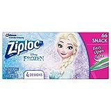 Ziploc Snack Bags, Easy Open Tabs, 66 Count, Featuring Mickey or Frozen Designs