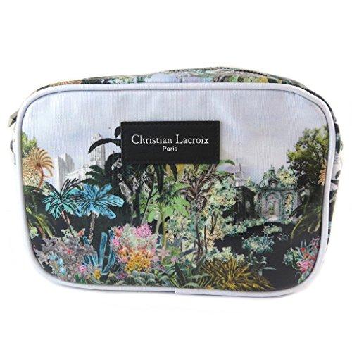 Christian Lacroix [P1385 [p1385] - tasche designer-tasche weiß, farbige (tropische)- 23x16x6. 5 cm.