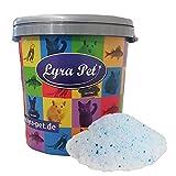Lyra Pet® 6 x 5 L = 30 L Cats Power Silikat Katzenstreu staubfrei in 30 L Tonne