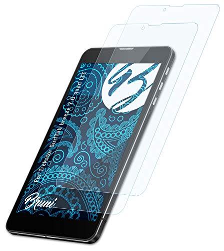 Bruni Schutzfolie kompatibel mit Trekstor SurfTab Breeze 7.0 Quad LTE Folie, glasklare Bildschirmschutzfolie (2X)