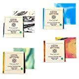 Handmade Vegan Cold Process Natural Soap I 5oz Bars I 4-Pack Variety Boxed Set l Neutral Scents I Paraben and SLS Free I Affordable luxury I Made in USA