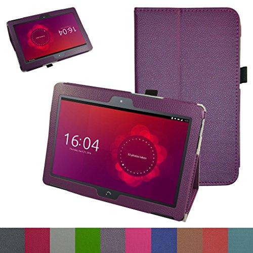 MAMA MOUTH bq Aquaris M10 Funda, Slim PU Cuero con Soporte Funda Caso Case para 10.1' bq Aquaris M10 FullHD FHD HD/Aquaris M10 Ubuntu Edition Android Tablet,Púrpura