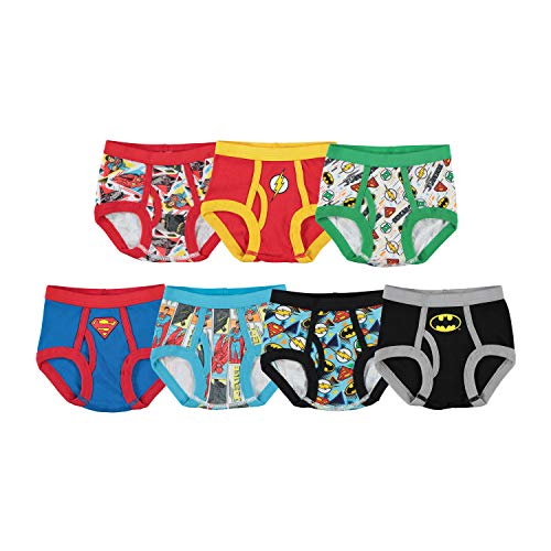 Handcraft Little Boys' DC Super Friends  Brief (Pack of 7), Assorted, 4T