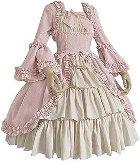 Women's Medieval Renaissance Costume Halloween Cosplay Costumes Victorian Irish Retro Gown Long Dress