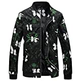 Jacket Men's Autumn Winter Jacket Fat Extra Size Jacket Baseball Bomber Jacket Coat Black