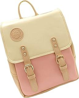 59c6f63f34 Big Mango Fashion Outdoor Bag Schoolbag Laptop Backpack Soft Satchel Handbag  for Female (Pink)
