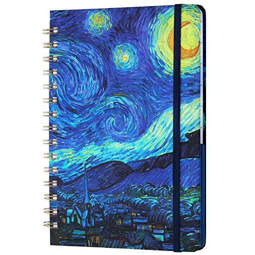 """Ruled Notebook/Journal - Lined Journal with Hardcover, 8.4"""" x 6.3"""", College Ruled Spiral Notebook/Journal, Strong Twin-Wire Binding with Premium Paper, Back Pocket, Perfect for School, Office & Home"""