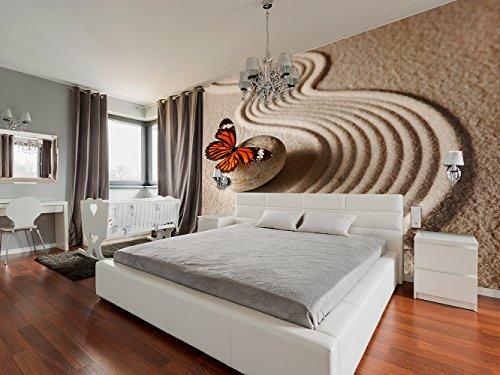 Oedim Fotomural Vinilo Pared 3D Jardin Zen Arena Mariposa 150x100cm | Fotomurales Pared | Fotomural Decorativo | Vinilo Decorativo | Decoración de comedores, Salones | Diseño Elegante