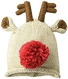 Mud Pie Baby BOY Reindeer Knit HAT, Brown, 0-6 Months
