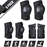 shownicer Skate Protective Gear Set, 6 in 1 Knee Pads Elbow Pads Wrist Guards for Kids Teens Adult |...