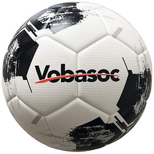 Vobasoc Fußbälle #5 Trainingsbälle,Turnierball Standart,Rautenmuster,Hochelastischer Pu wärmeverbindung Fußball