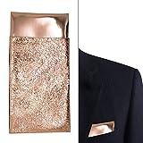 Rose Gold pocket square for men, Rose Gold Mirror like pocket square, ream Up Idea