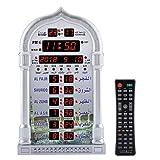 Azan Prayer Table Alarm Clock,Digital Automatic Praying Wall Clock Manual Remote Control Prayer