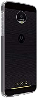 Verizon Two-Tone Slim Bumper Case Cover Skin for Motorola Moto Z Droid - Clear - In Verizon Retail Package