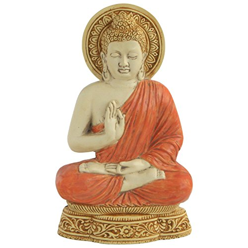 Colorful Buddha Wall Relief, 9 Inches