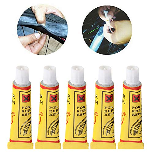 Wulidasheng Bicycle Tire Repair Glue, Bike Maintenance & Tools,5Pcs Bike Bicycle Tire Inner Tube Patches Glue Rubber Puncture Repair Tools