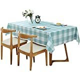 Table cloth waterproof oil-proof ironing tablecloth, European pastoral lattice rectangular table mat