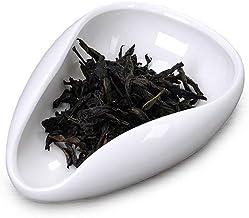 UPKOCH Ceramic Tea Leaf Scoop Tea Spoon Chinese Style Teaware Scoop Tea Shovel Teaware Accessories Spoon Tea Spoon for Office Tea Room Home 2Pcs (Random Style)