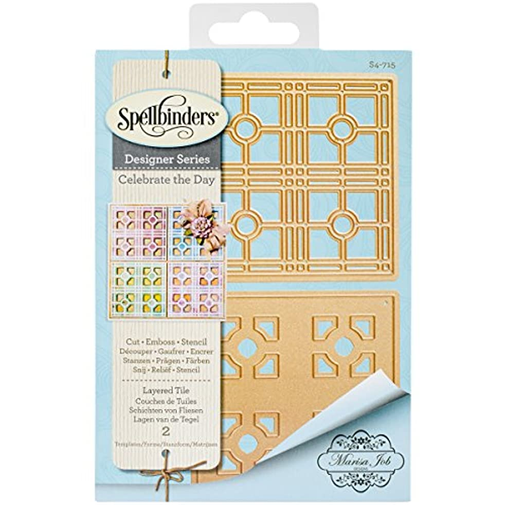 Spellbinders Layered Tile Etched/Wafer Thin Dies