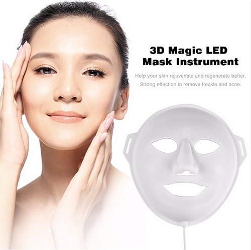 SWQA 3D LED Maske Instrument Sch eit Maske Phototherapie Lichtschrumpfen Poren Verjüngen Haut