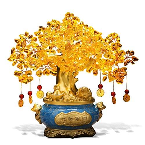 Árbol del dinero bonsai feng shui Citrino, Decoración Reiki Piedra china del árbol del dinero for la abundancia y la suerte de Ministerio del Interior del estreno de una decoración de escritorio don s