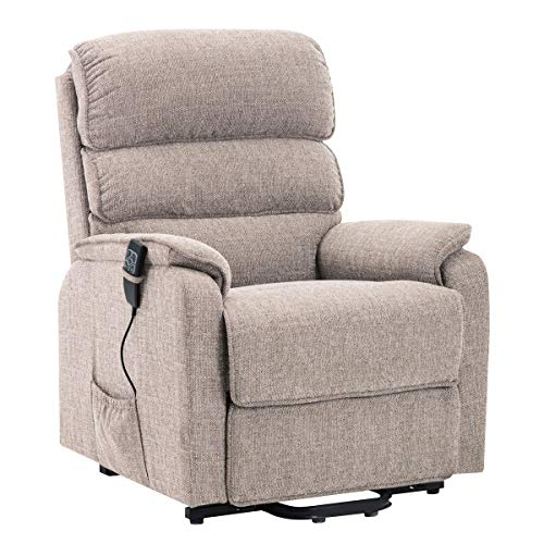 The Thornton Dual Motor Electric Riser and Recliner Mobility Chair with Heat, Massage and USB - Choice of Colours (Wheat)